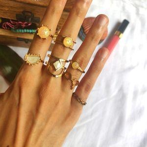 Golden rings (set of 7)
